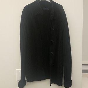 JCREW Wool Black Button Down Cardigan Small